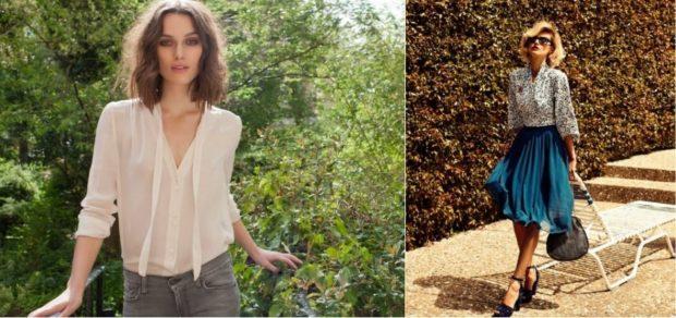 блуза шифоновые белая цветная свободный крой