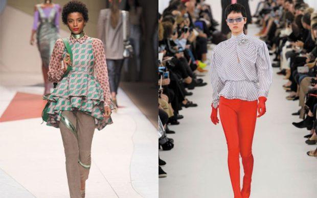 Модные блузки 2018-2019: с воланами в горох в полоску широкая