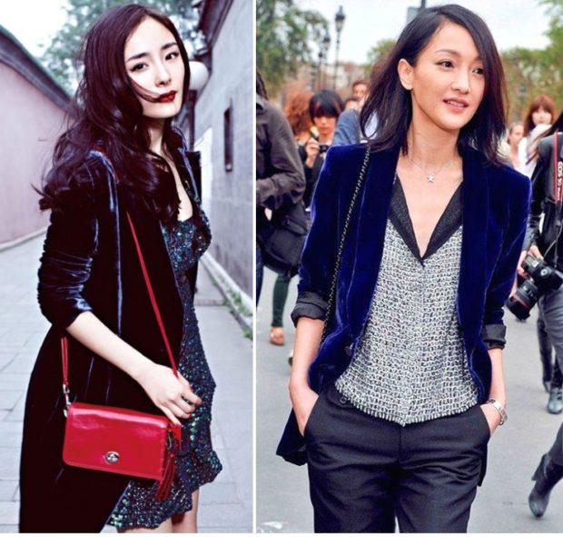 Модные пиджаки осень зима 2019-2020: бархатные синий черный длинные