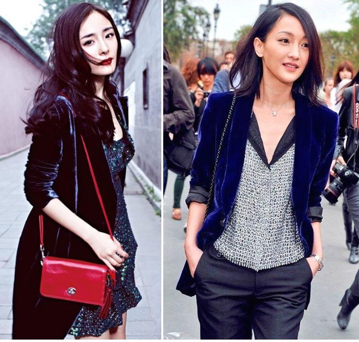 Модные пиджаки осень зима 2018 2019: бархатные синий черный длинные