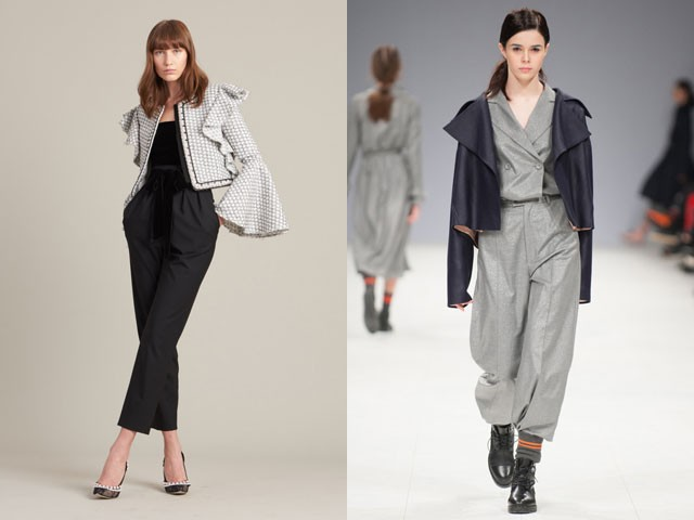 Модные пиджаки осень зима 2018 2019: пиджак короткий асимметрия белый черный