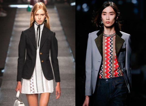 Модные пиджаки осень зима 2019-2020: черный серый