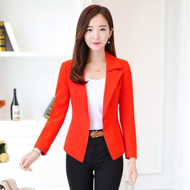 Модные пиджаки осень зима 2019-2020: красный