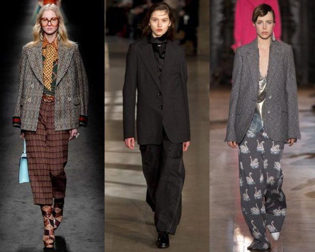 Модный пиджак для осени и зимы 2020-2021: длинные в клетку серый