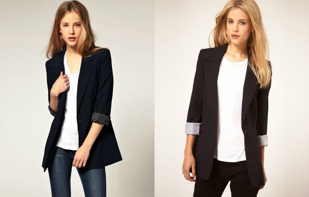 Модные пиджаки осень зима 2018 2019: пиджак удлиненный черный рукав 3/4