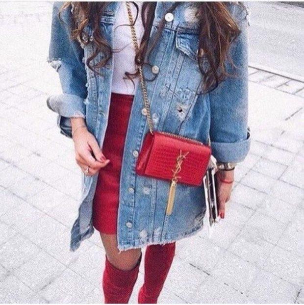 Модные пиджаки осень зима: джинсовый длинный