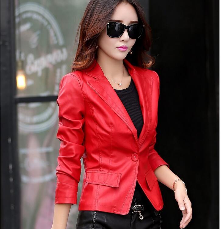 Модные пиджаки осень зима 2018 2019: кожаный красный