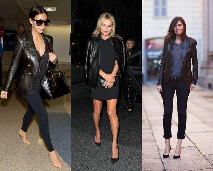 Модные пиджаки осень зима 2018 2019: кожаный черный с пуговицами на змейке