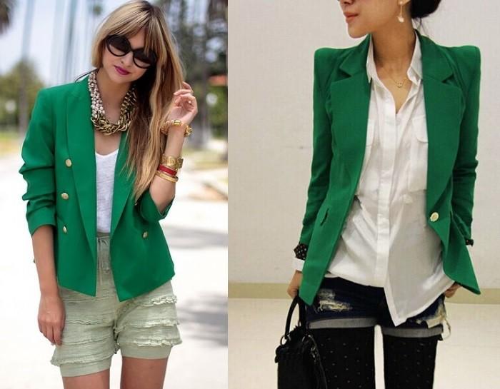 Модные пиджаки осень зима 2018 2019: пиджак зеленые двубортный