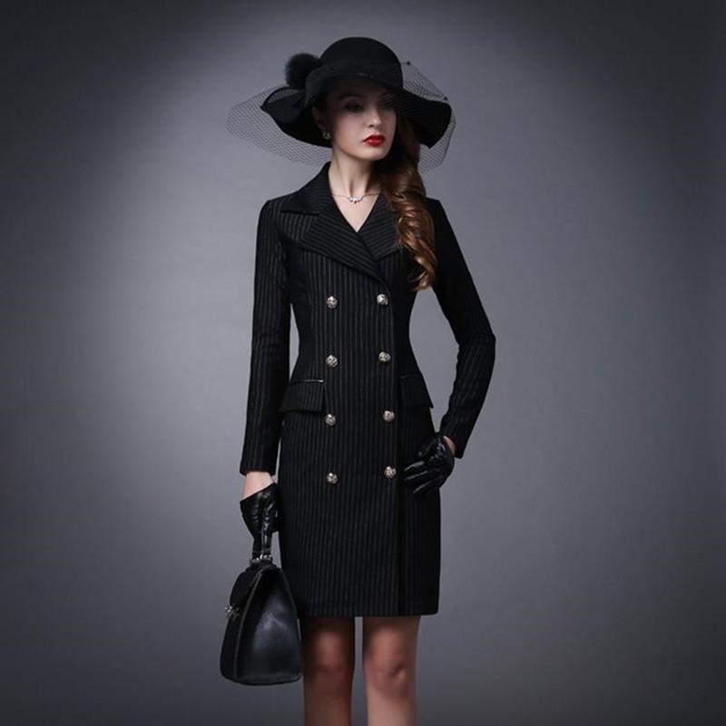 Модные пиджаки осень зима 2018 2019: пиджак длинные черный в полоску