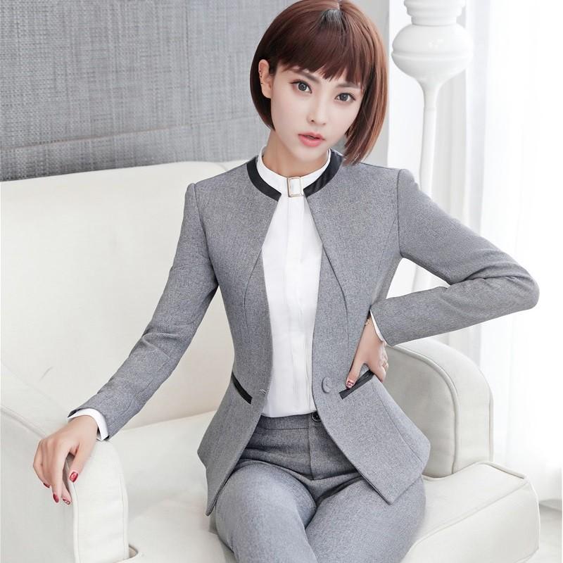 Модные пиджаки осень зима 2018 2019: серый пиджак без пуговиц