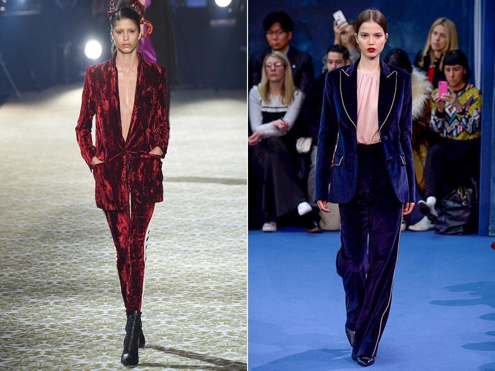 Модные пиджаки осень зима 2018 2019: бордовый синий бархатный пиджак