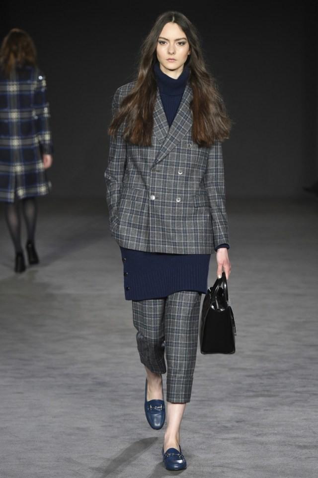 Модные пиджаки осень зима 2018 2019: пиджак в клетку длинный двубортный