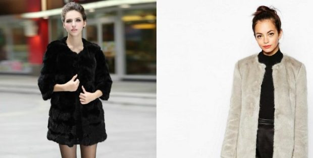 модные шубы 2019-2020: черная короткая рукав 3/4 светлая короткая