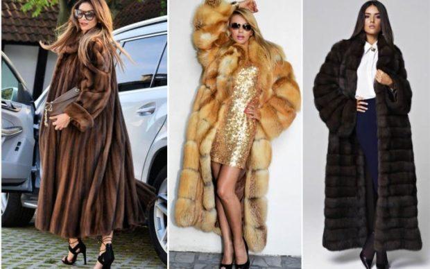 модные шубы 2019-2020: длинные темная светлая черная