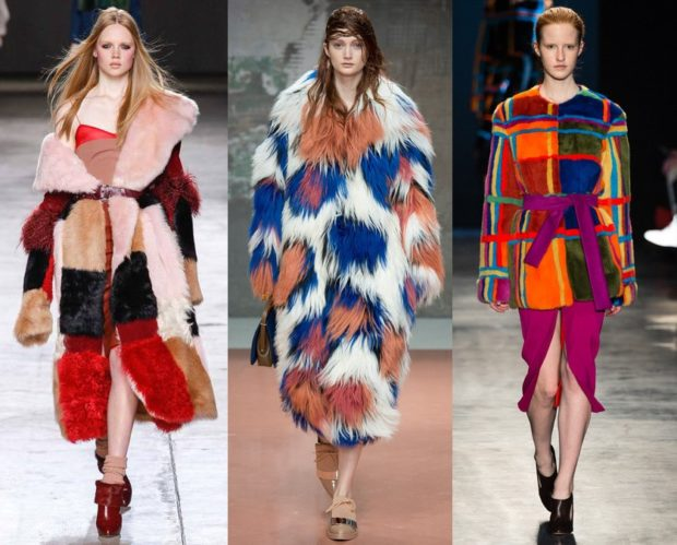 модные шубы 2019-2020: яркие цветные длинные