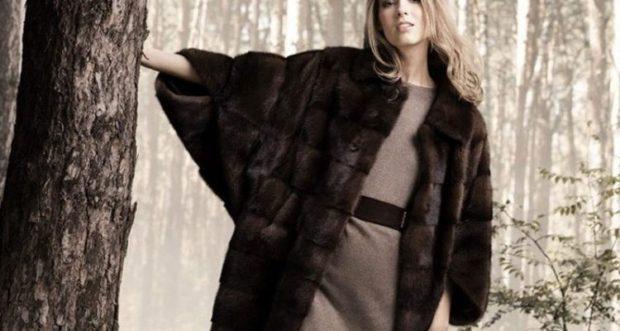 модные шубы 2019-2020: широкая черная