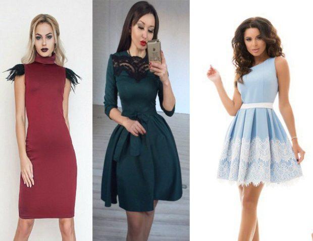 Цветовая палитра вплатьях весна лето 2018: летние платья, зеленого нежно голубого цвета и красного цвета