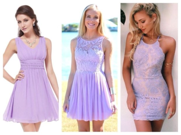 Цветовая палитра вплатьях весна лето 2018: летние платья, фиолетового цвета