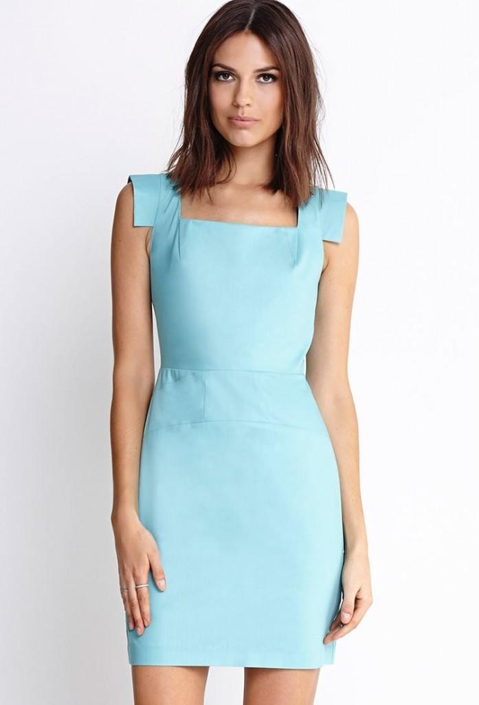 Цветовая палитра вплатьях весна лето 2018: летние платья, нежно голубого цвета