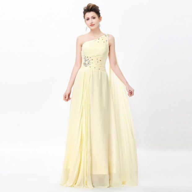 Цветовая палитра вплатьях весна лето 2018: летние платья, желтого цвета