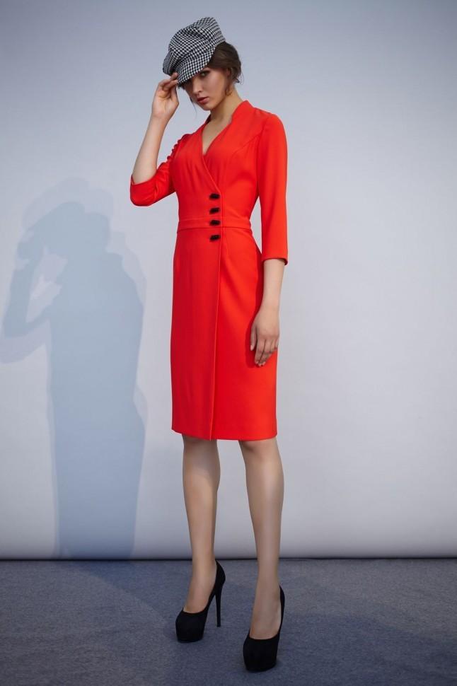 Цветовая палитра вплатьях весна лето 2018: платья, красного цвета