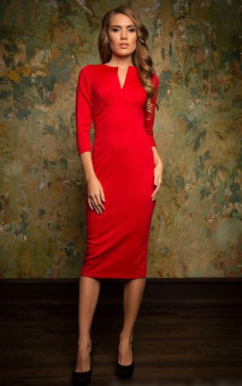 Цветовая палитра вплатьях весна лето 2018: классическое платья, красного цвета