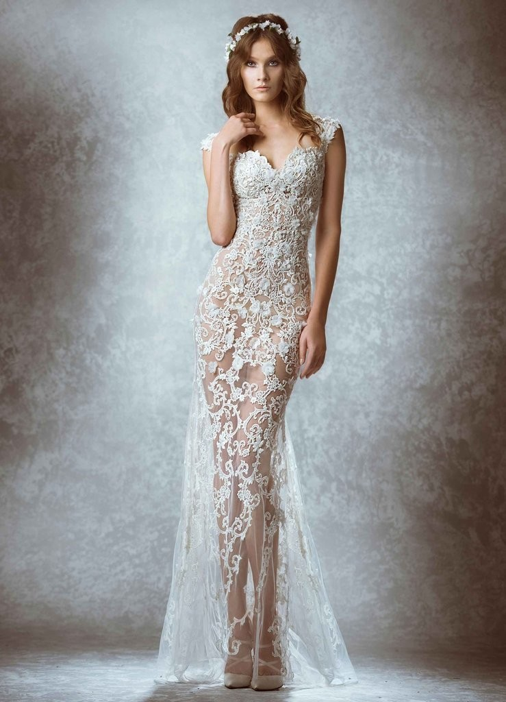 Цветовая палитра вплатьях весна лето 2018: кружевное платье, белого цвета