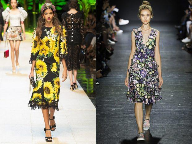 Платья весна лето 2018:летние платья, цветные