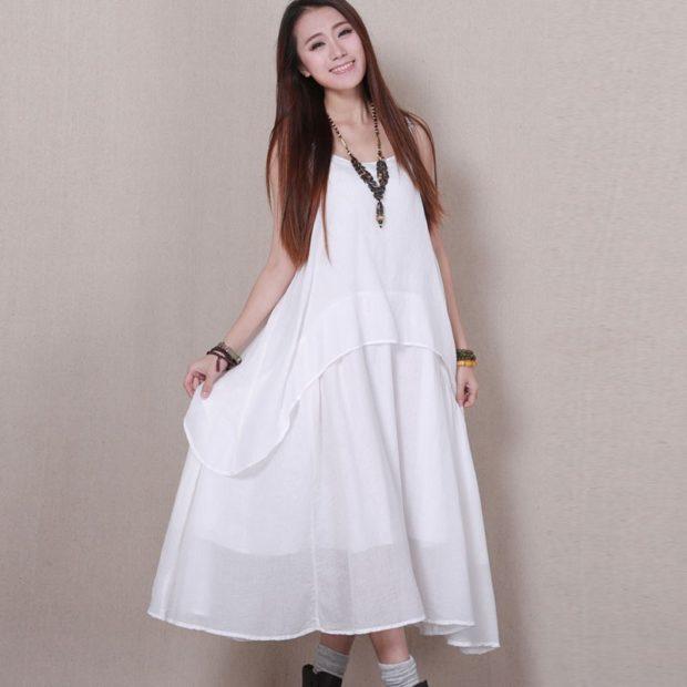 Платья макси весна лето 2018: платье макси,белого цвета