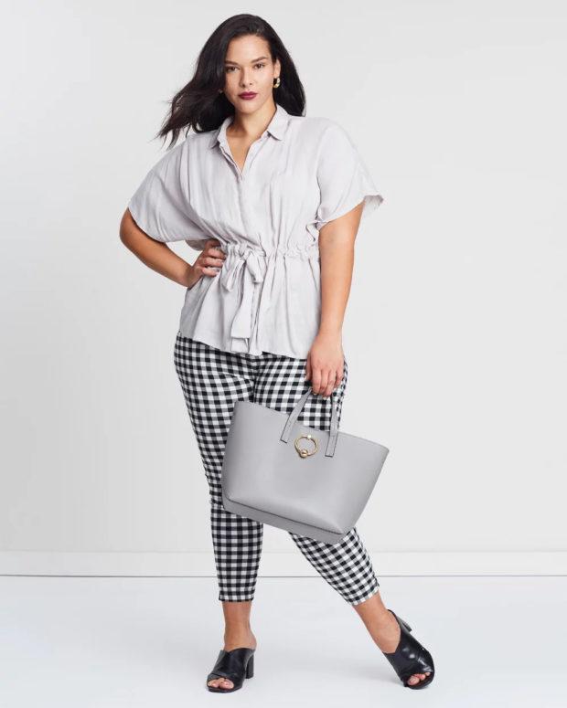 блузки для полных: с поясом