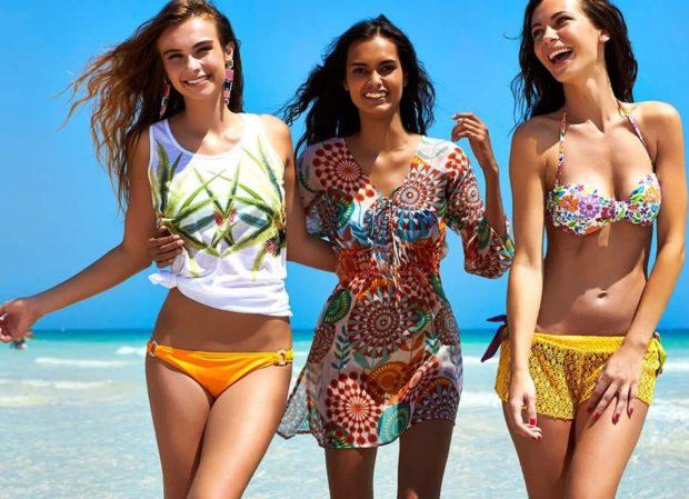 Пляжная мода 2019 тенденции: купальник под маку парео шорты