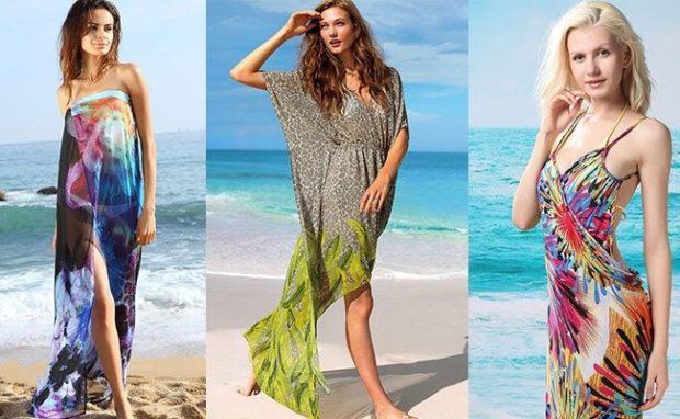 Пляжная мода 2019 тенденции: парео цветные длинные