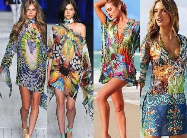 Пляжная мода 2019 тенденции: парео цветные короткие