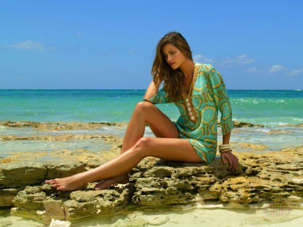 Пляжная мода 2019 тенденции: парео салатовое
