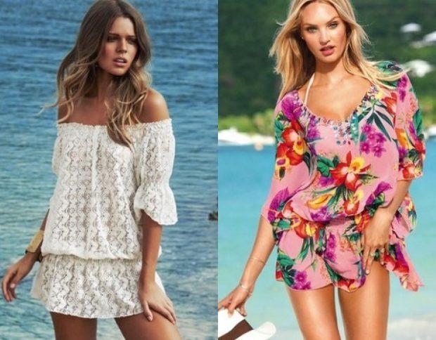 Пляжная мода 2019: сарафаны белый в цветы
