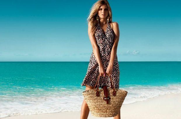 Пляжная мода 2019: сарафан тигровый короткий