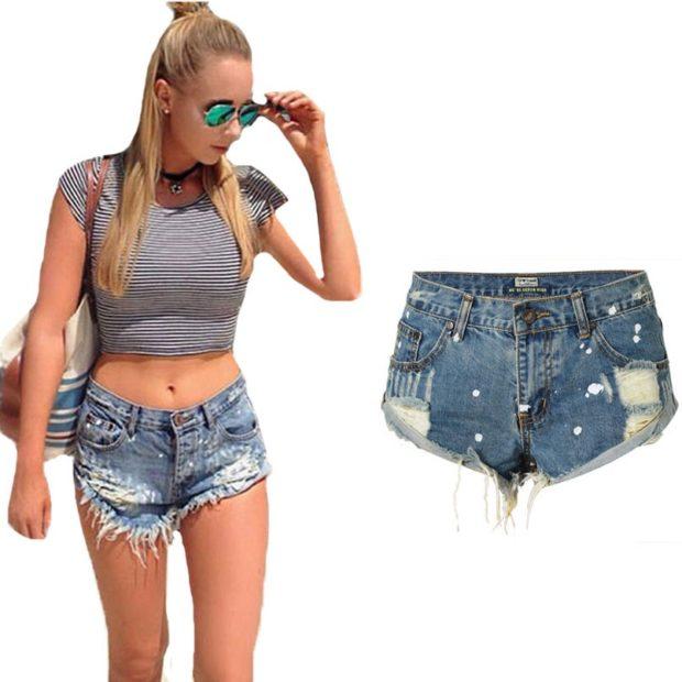 Пляжная мода 2019 тенденции: шорты джинсовые короткие