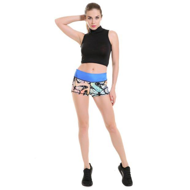 спортивные женские шорты с принтом