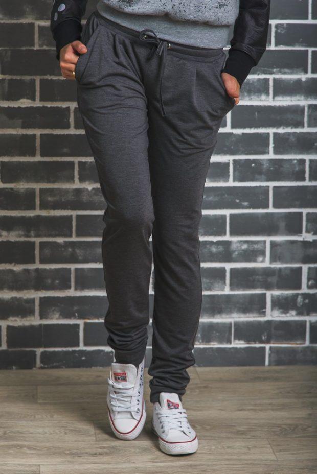спортивный костюм штаны черного цвета