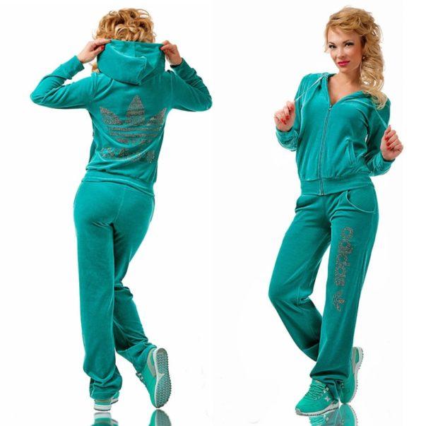 спортивный костюм штаны и свободный верх зеленого цвета