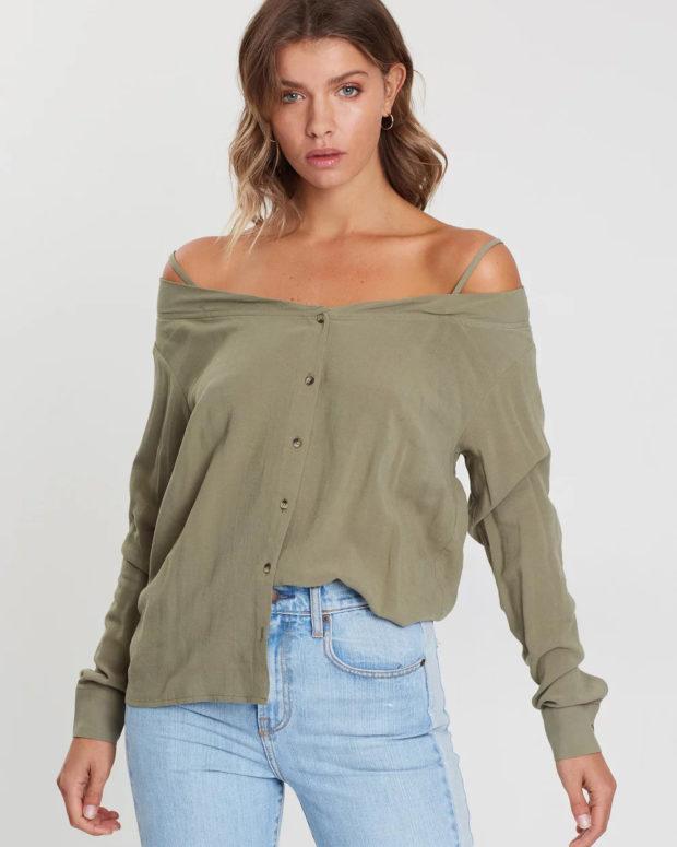 блузки на лето 2019: открытые плечи