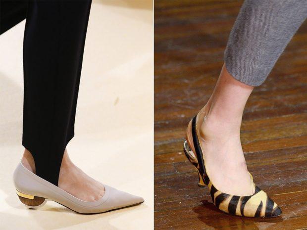 Туфли на низком ходу весна лето 2019: на низком ходу, кожаные, бежевого и тигрового цвета