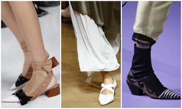 Туфли весна лето 2019: на каблуке,кожа , без шнуровки, белые и черные