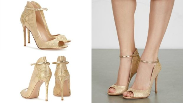 Туфли весна лето 2019: на каблуке,кожа, без шнуровки,на застежке , золотого цвета