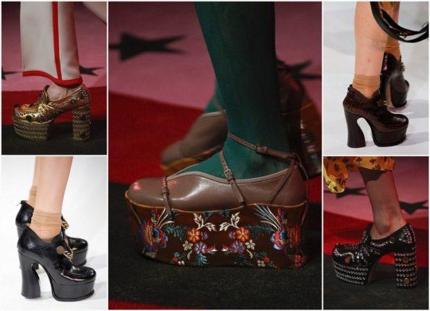 Туфли весна лето 2020: на платформе кожа без шнуровки