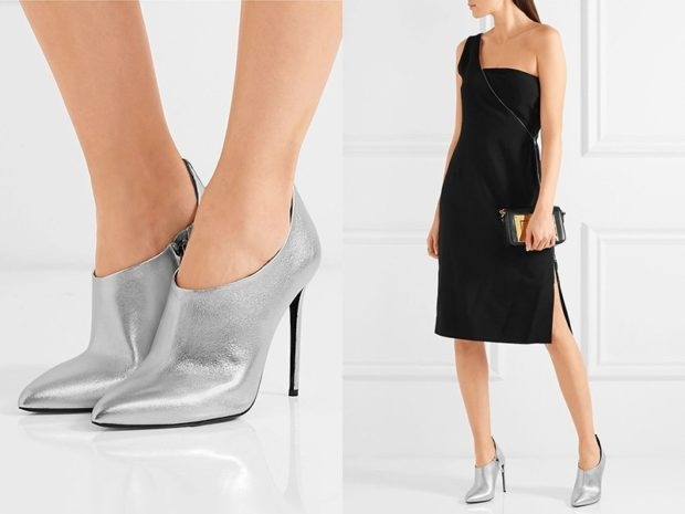 Туфли весна лето: на каблуке кожа без шнуровки цвета металлик