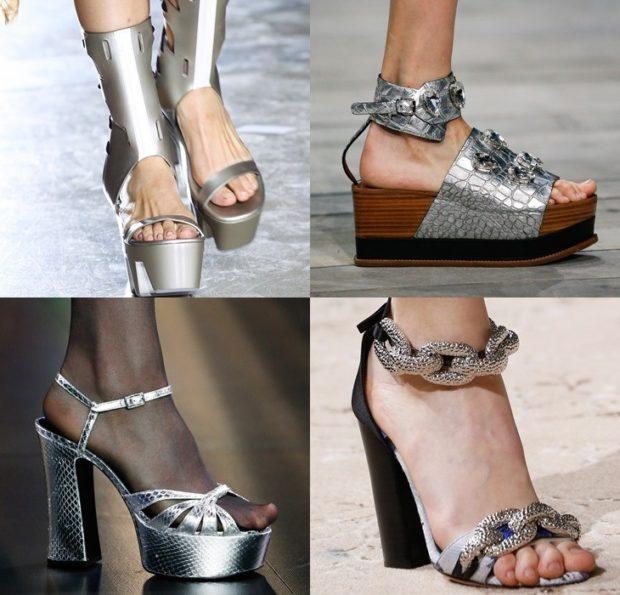 Туфли весна лето 2020: на каблуке кожа без шнуровки цвета металлик