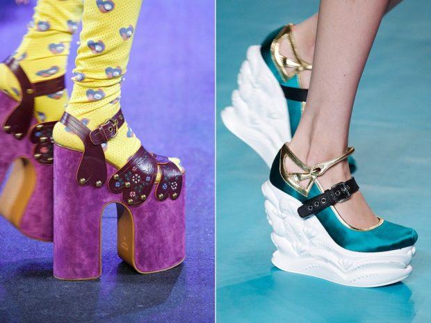 Туфли весна лето 2020: на платформе кожа и замша на застежках
