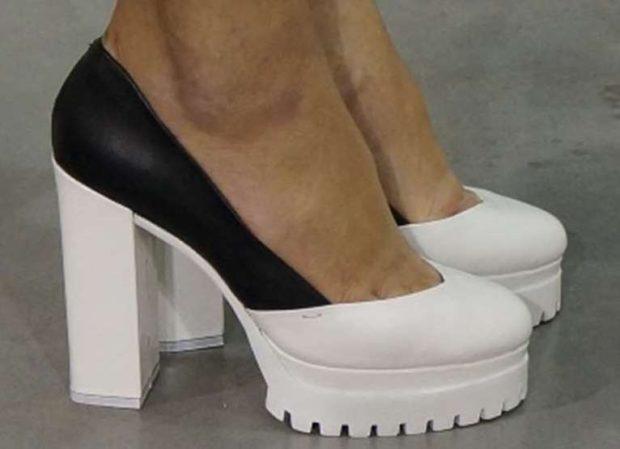 Туфли на тракторной подошве весна лето 2019: на тракторной подошве, кожаные, черно-белые цвета